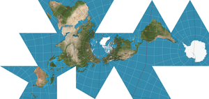 300px-Dymaxion_projection