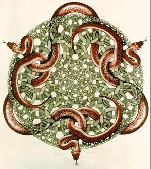 Escher_Snakes